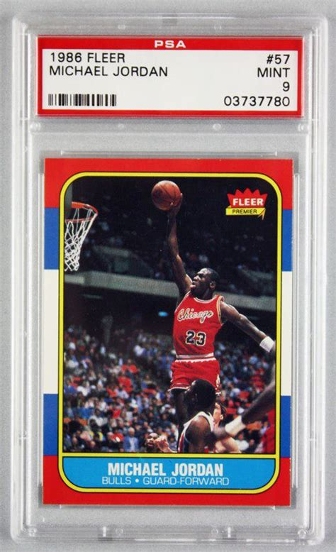 Best & most valuable examples in the hobby today. Lot Detail - 1986 Fleer Michael Jordan Rookie Card PSA Graded MINT 9