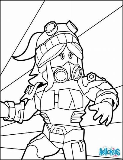 Roblox Coloring Pages Noob Drawing Printable Heroine