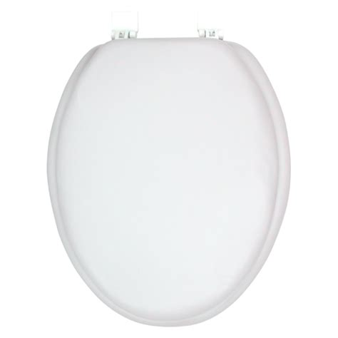 ginsey solid white elongated padded soft toilet seat