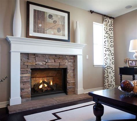 gas fireplace mantel gets best 25 stacked fireplaces ideas on