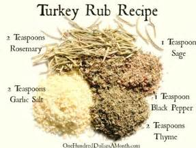 easy kitchen tips turkey rub recipe one hundred dollars a month