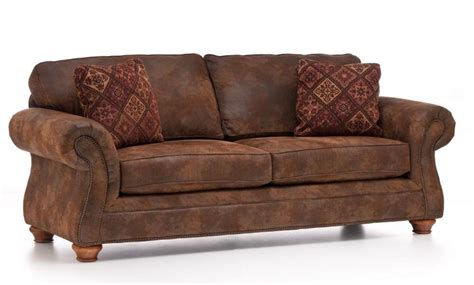 broyhill laramie microfiber sofa in distressed brown 1000 images about sofas on