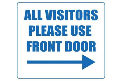 printable  visitors   front door sign front