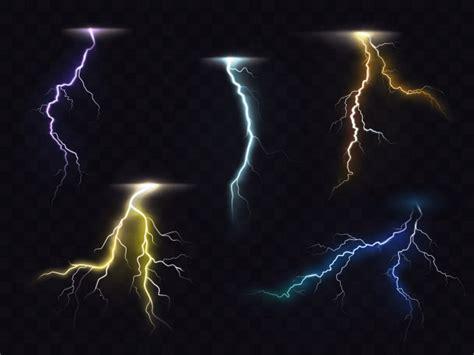 lightning flash glowing light effects vector vector
