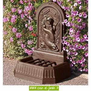 Fontaine De Jardin En Fonte : fontaine en fonte fontaine de jardin murale ou fontaine murale ~ Melissatoandfro.com Idées de Décoration