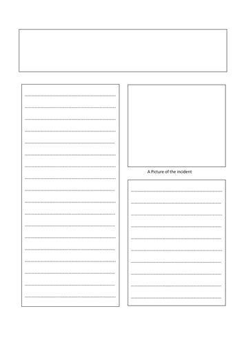 blank newspaper template a3 newspaper template by engageinenglish teaching resources tes