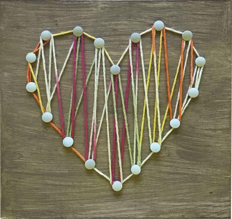 kids string art heart crafts direct