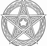 Coloring Pentagram Pages Wiccan Printable Getcolorings Getdrawings sketch template