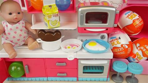 Baby Doli Kitchen And Food Toys Surprise Eggs Kinder Jo...