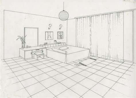 2 Point Perspective Bedroom Sketch Wwwpixshark