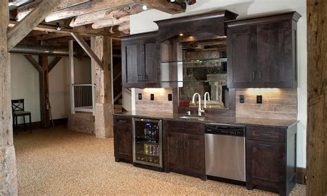 Basement Bar Cabinet Ideas by Mullet Cabinet Basement Bar Area Surround By The Timber