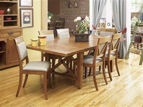 dining table  butterfly leaf classic wood trestle