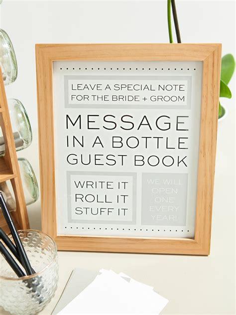 check   diy message   bottle guest book