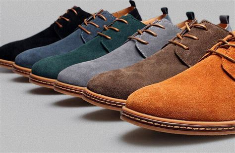 Mens Casual Dress Formal Oxfords Shoes Wing Tip Suede