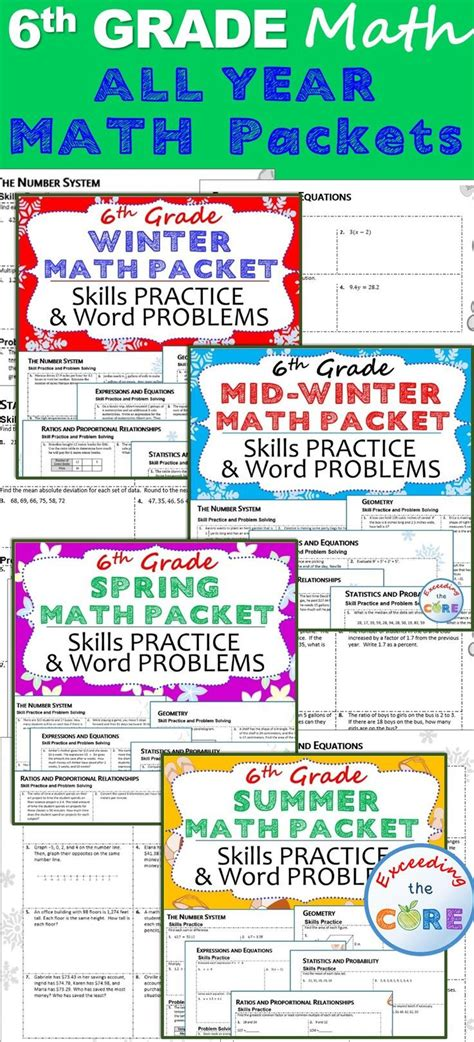 1000+ Images About 6th Grade Math On Pinterest  Math, Fractions And Homework