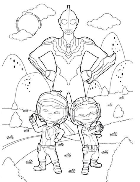 cute upin  ipin ultraman coloring page fantastic