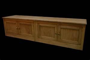 Meuble Bas Porte : meuble bas hifi chene 4 portes armarbois mobilier bois ~ Edinachiropracticcenter.com Idées de Décoration