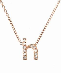 kc designs rose gold diamond letter h necklace in pink With letter h necklace