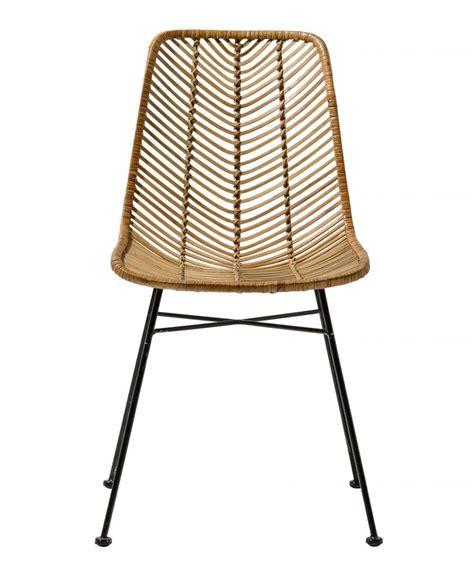 chaise en rotin but bloomingville chaise lena rotin naturel bloomingville