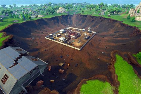 fortnite dusty divot va devenir  site de fouille leak