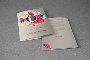 Booklet Sample Design 34 Funeral Brochure Templates Vector Eps Psd
