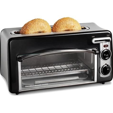 Toaster Oven With Slots On Top by Hamilton 2 In 1 Toaster Oven Compact Toastation
