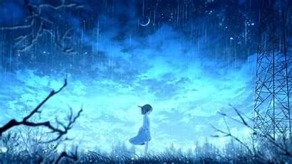 Anime Rain 4k Bright Raining Wallpapers Night