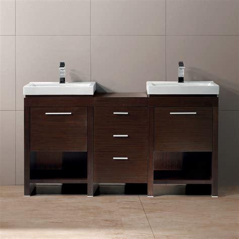 vigo  adonia double bathroom vanity wenge