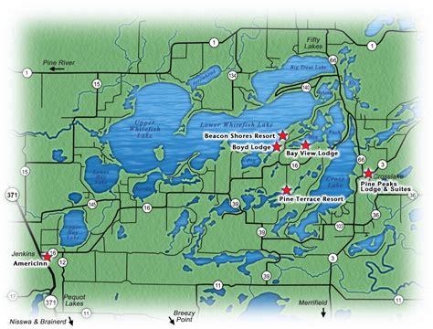 Whitefish Lake Chain | MN Lake Resorts | Lake Maps ...