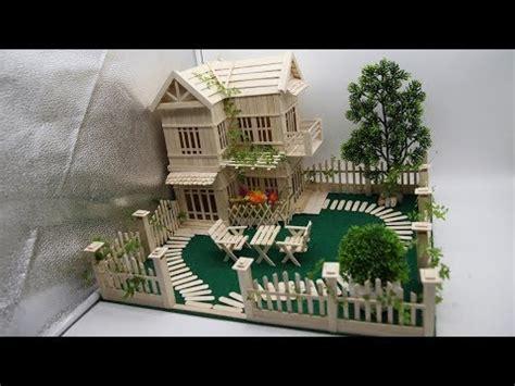 building popsicle stick mansion popsicle garden villa dreamhouse youtube