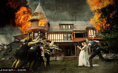 wedding attack crazy party newest funny trend zombie