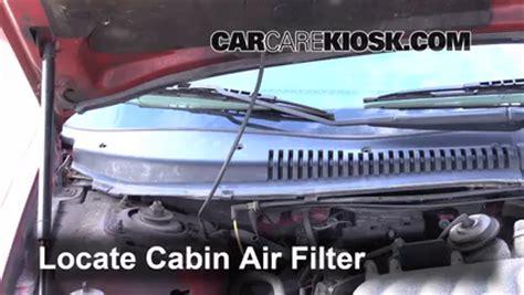 ford ranger cab air filter removal   install
