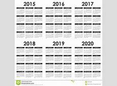 2015 Calendrier 2020 illustration de vecteur