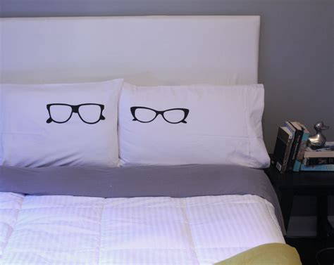 cool pillow cases his and hers pillows cool pillow cases glasses pillow