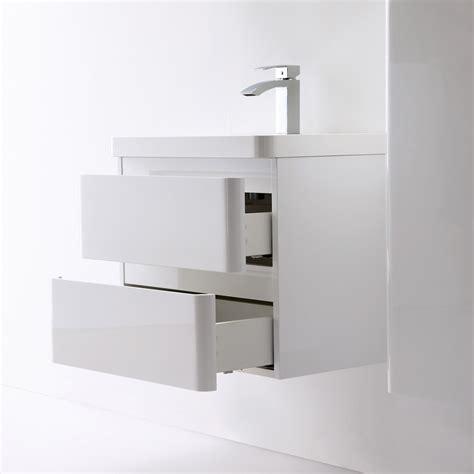Designer Bathroom Vanity Units by Luxurious High Gloss White Vanity Unit