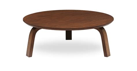 Nes Cocoa Wood Round Coffee Table   Coffee Tables   Article   Modern, Mid Century and