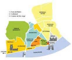 map  lisbon neighborhoods google search lisbon