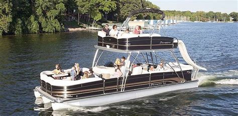 Used Pontoon Boats With Upper Deck And Slide For Sale by Double Decker Pontoon For Sale Google Search Party
