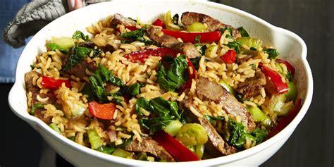beef bok choy fried rice recipe goodhousekeepingcom