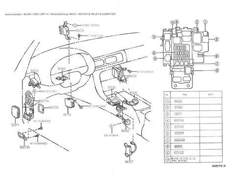 94 Ford Contour Fuse Diagram by 1998 Lexus Sc300 Fuse Box Lexus Auto Wiring Diagram