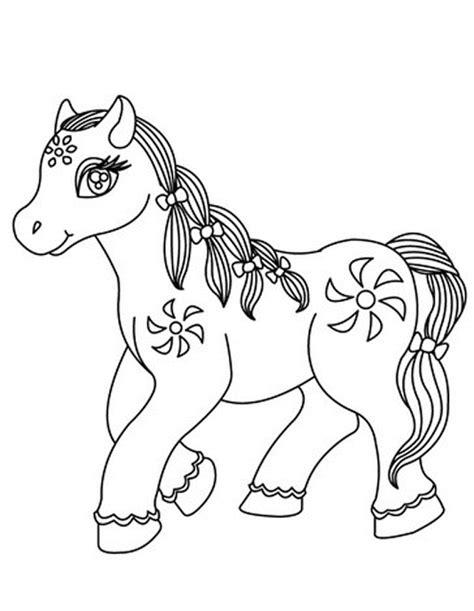 aneka gambar mewarnai gambar mewarnai kuda poni