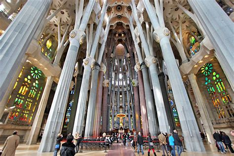 Gaudi's Sagrada Familia Basilica in Barcelona, Spain