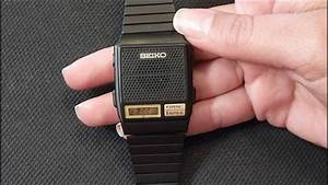 Vintage Seiko A966 Series Talking Watch Review  Manual