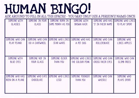 Bingo Template Free Blank Bingo Card Template Printable