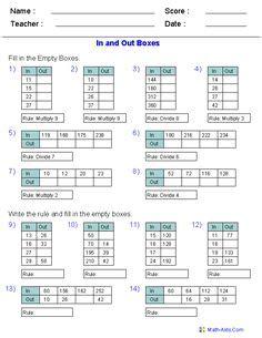 grade  maths worksheets  printable