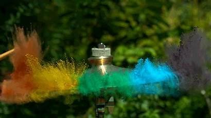 Paint Drum Rainbow Explosive Creates Putting Kit