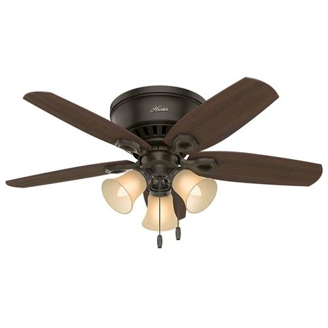 flush mount ceiling fans for small rooms builder low profile 42 in indoor new bronze