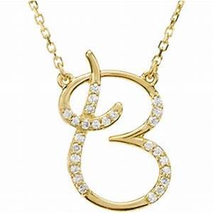 amazoncom 14k yellow gold alphabet initial letter b With letter necklace amazon