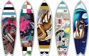Planche Surf Deco : nouveau des d cos c line chat pour votre surf ou votre longboard c line chat ~ Teatrodelosmanantiales.com Idées de Décoration