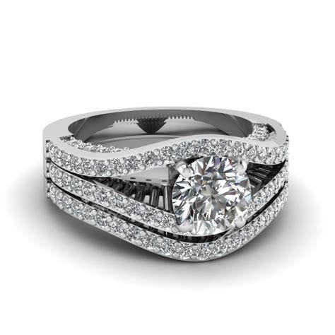 contemporary engagement wedding ring sets contemporary split set fascinating diamonds